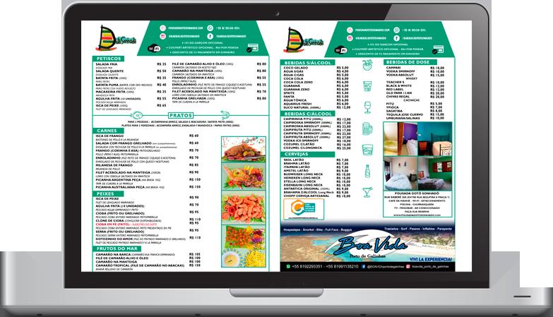 barraca-dotosonhado menu