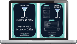 portodeck barraca menu