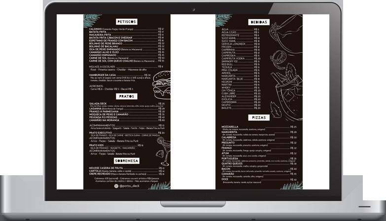 portodeck menu